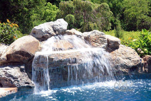 27. Custom Rocks & Waterfall