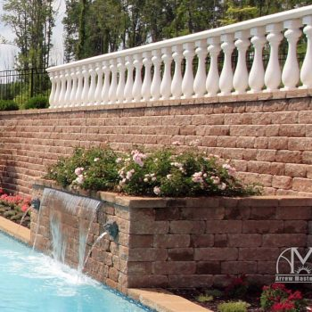 Arrow Master Pools Retaining Wall / Waterfall